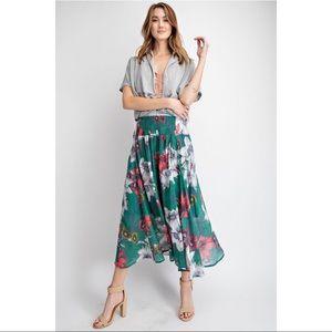 Blair - Spring Breeze Floral Maxi Skirt